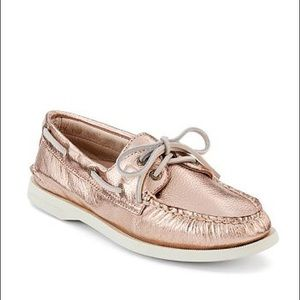 Sperry Top-Sider Rose Gold Metallic Boat Shoes